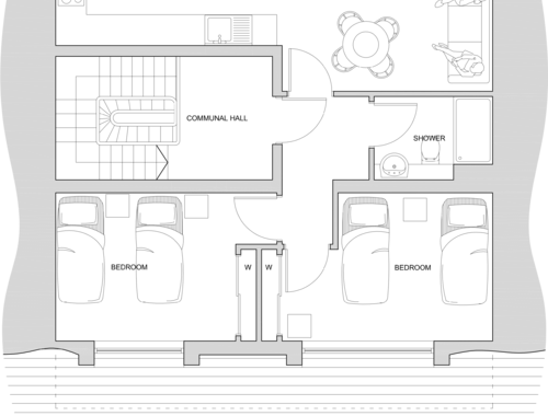 Patrick Geddes Quarters   (attic) floorplan